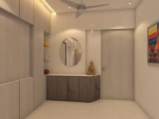 :  Corridor & hallway by Interioarch Design Lab