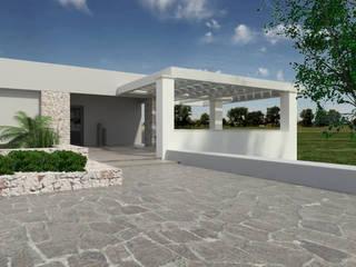 Rendering di progetto esterni:  in stile  di MGSO architetti