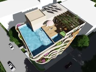 RAJAPURKAR BUNGALOW Modern houses by smstudio Modern