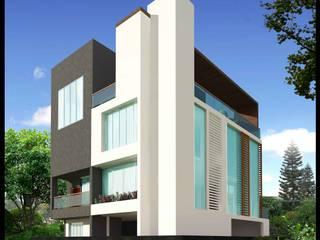 SHRI KRISHNA HOUSE Modern houses by smstudio Modern