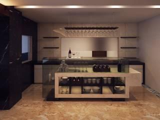 ICICI GUEST HOUSE HYDERABAD Modern wine cellar by smstudio Modern