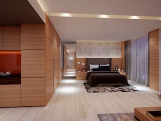 ICICI GUEST HOUSE HYDERABAD Modern style bedroom by smstudio Modern