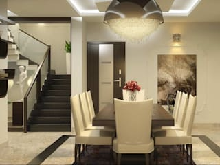 Monnaie Interiors Pvt Ltd Asian style dining room