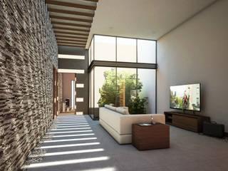 Sala TV: Casas unifamiliares de estilo  por Grupo PAAR Arquitectos