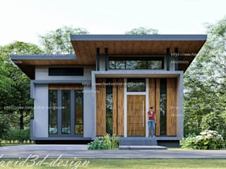 บ้านพักอาศัยชั้นเดียว อ.เมือง จ.ลพบุรี คุณดารารัตน์ฯ โดย fewdavid3d-design โมเดิร์น