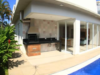 VN Arquitetura Terrace house Wood Beige