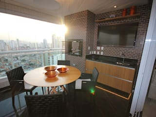 Apartamento Montessori Varandas, alpendres e terraços modernos por Hermes Stracciari Tosi Moderno