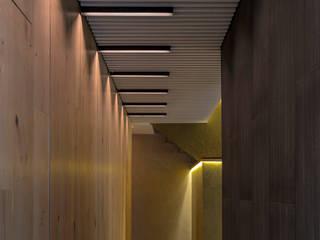 DEPA DEL MÚSICO: Pasillos y recibidores de estilo  por HDA: ARQUITECTURA BIOCLIMATICA