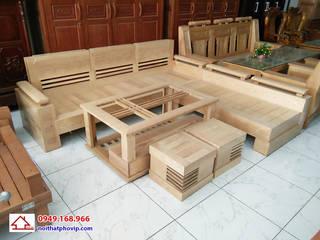 Bộ bàn ghế phòng khách: hiện đại  by Đồ gỗ nội thất Phố Vip, Hiện đại