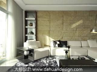 大桓設計顧問有限公司 Living room Slate Yellow