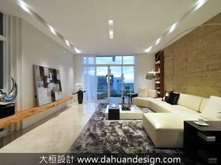 大桓設計顧問有限公司 Living room Marble White