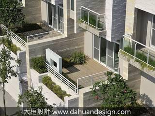 大桓設計顧問有限公司 Modern style balcony, porch & terrace Solid Wood Green