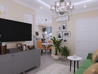 Eclectic style living room by Студия NATALYA SOLNTSEVA Interiors Design Eclectic