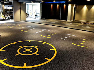 Functional training gym flooring design by Balcan flooring and paint trade LTD