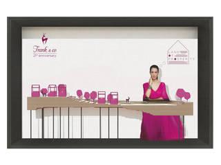 Frank n Co Window Display Design:   by Studio Benang Merah