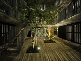 HAN環境・建築設計事務所 Jardines de estilo moderno