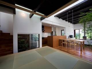 Медиа комната в стиле модерн от HAN環境・建築設計事務所 Модерн