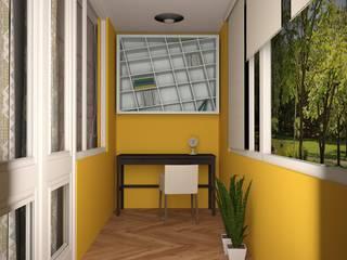 Study/office by  Яна Васильева. дизайн-бюро ya.va,