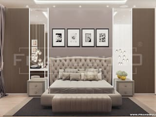 Роскошные апартаменты в современном стиле: Спальни в . Автор – Frandgulo