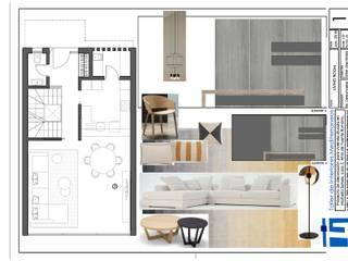 Proyecto para casa adosada Salones de estilo moderno de Taller de Interiores Mediterraneos Moderno