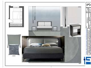 Proyecto para casa adosada Dormitorios de estilo ecléctico de Taller de Interiores Mediterraneos Ecléctico
