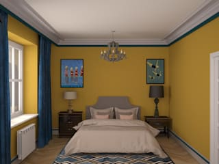 Bedroom by  Яна Васильева. дизайн-бюро ya.va,