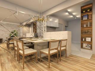 Karen Oliveira - Designer de Interiores Yemek OdasıAksesuarlar & Dekorasyon Orta Yoğunlukta Lifli Levha Beyaz