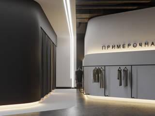 Шоу-рум брендовой одежды: Лестницы в . Автор – Yurov Interiors,