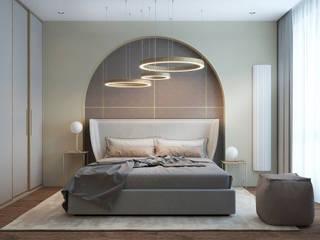 """Квартира в ЖК """"Наследие"""": Спальни в . Автор – Yurov Interiors,"""