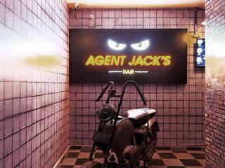 AGENT JACK VEERA DESAI smstudio Modern corridor, hallway & stairs