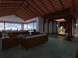 Traditional Bungalow:  Living room by Studio SA3