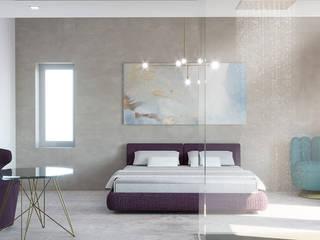 Villa Ansedonia Camera da letto moderna di Arabella Rocca Architettura e Design Moderno