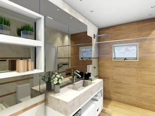 Projeto Banho Suite Casal: Banheiros  por Carla Maldaner Home&Design,Moderno