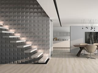 Modern Corridor, Hallway and Staircase by DUNE CERAMICA Modern