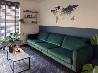 Interieurstyling woonkamer en keuken in Haarlem Moderne woonkamers van Studio Mind Modern