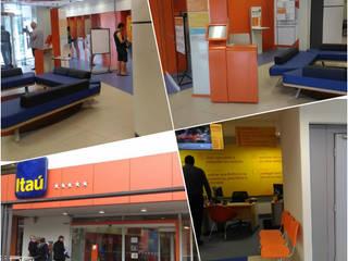 Karen Oliveira - Designer de Interiores Modern offices & stores Concrete Orange