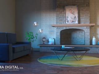 Modern Living Room by PLUMA DIGITAL SAS. Modern