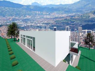 VU - 4 - VIVIENDA RESIDENCIAL UNIFAMILIAR Casas modernas de RR Arquitecto Moderno
