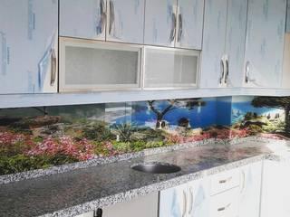 Öztaş Yapı Dekorasyon - Cam mutfak – Mutfak Tezgah Arası:  tarz Mutfak üniteleri