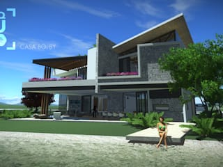 CASA BO.: Casas de estilo moderno por ArqCubo
