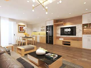 Modern living room by THIẾT KẾ HOMEXINH Modern