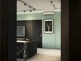 Проект №26 ул.Плотникова Коридор, прихожая и лестница в стиле минимализм от DS the Universe Минимализм