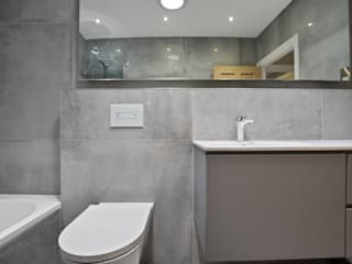 Case Study: Twickenham, Middlesex モダンスタイルの お風呂 の BathroomsByDesign Retail Ltd モダン