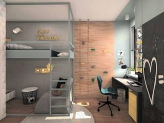 POKÓJ DLA CHŁOPCA 1: styl , w kategorii Pokój dziecięcy zaprojektowany przez AP interiors,