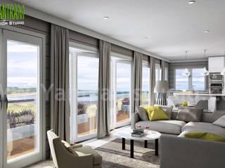 Living Room design ideas, interiors & pictures by Yantram architectural studio - Atlanta, USA Modern Oturma Odası Yantram Architectural Design Studio Modern