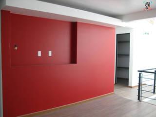 SALA TV: Salas de estilo moderno por ArqCubo