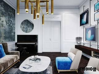 nastrojowe dodatki w salonie: styl , w kategorii Salon zaprojektowany przez MIKOŁAJSKAstudio