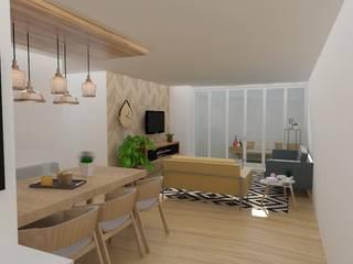Vista general sala comedor: Salas de estilo  por 78metrosCuadrados