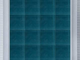 GÜVEN ÇİNİ – 10x10 cm Firuze PORSELEN RÖLYEFLİ ÇİNİ KAROLAR:  tarz
