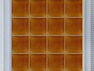 GÜVEN ÇİNİ – 10x10 cm Karamel PORSELEN RÖLYEFLİ ÇİNİ KAROLAR:  tarz